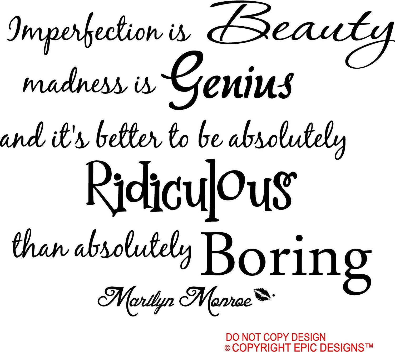marilyn monroe unvollkommenheit ist schönheit wahnsinn