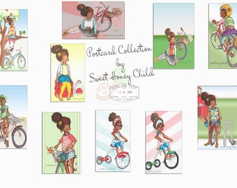 Pretty Sweet Postcard Collection by Sweet Honey Child