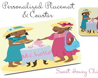 Sweeties for Tea - Personalized Placemat and Coaster Set