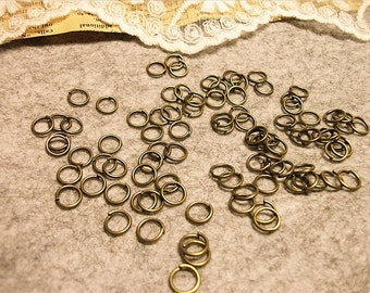 smaller ones-Jewelry handmade must-have jump rings--antique bronze-300pcs-F487