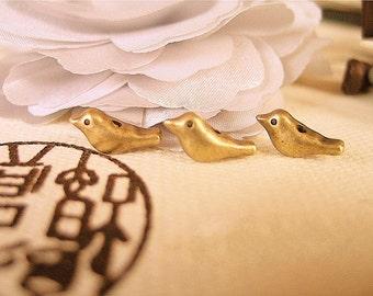 cute birdy beads-12 pcs-F99