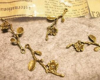 fabulous branch pendants-4 pcs-FZ103