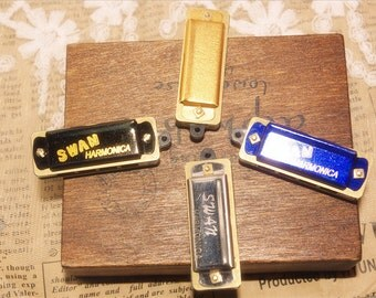 4 pcs for you-harmonica pendants-can be played music-miniature-FZ106