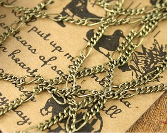 Wholesale-jewelry handmade must-have  unique chain-20 feet-brass material-F291