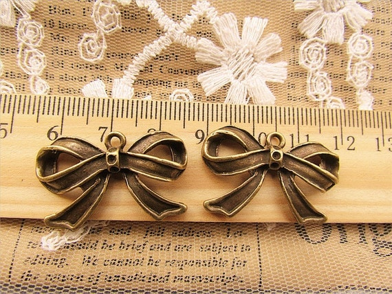8 pcs big bow charms-basic-F201