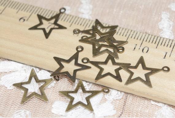 40 pcs star findings-F304-Sale