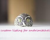 Custom Listing - I Am Watching You Owl Ring