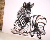 Original painting 'Snuggled Baby Zebra' by Zomalee Designs on Etsy
