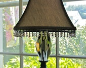 Vintage metal and glass table lamp