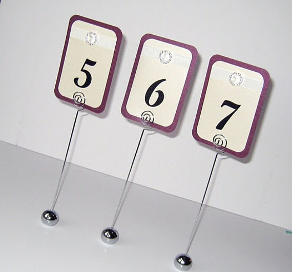 12 Reception Table Sign Holder Wedding Table Number Stands