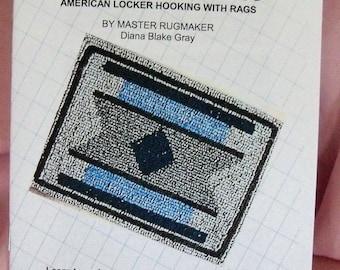 PDF file: Locker Hooking, Anchored Loop Rug Instructions, Rugmakers Bulletin No. 6