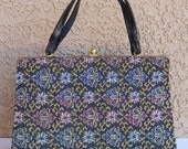 CLEARANCE Vintage 1950's Mint Condition Stylemark Floral Tapestry Handbag