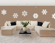 Snowflakes Wall Decal (Set of 6)