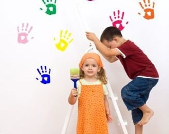 Painted Hand Wall Decal