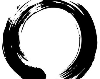 Enso Wall Decal Zen Circle Enso Buddhism Meditation Stickers Vinyl