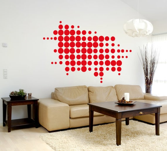 circle design wall decal