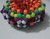 Multicolored 3D Kandi Cuff