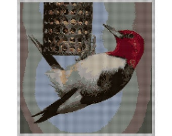 Red-Headed Woodpecker Needlepoint Kit