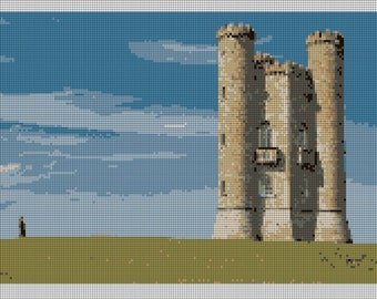 Broadway Tower Cotswolds England Needlepoint Kit