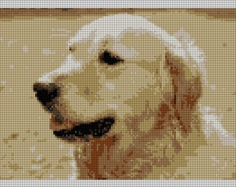 Golden Retriever Needlepoint Canvas