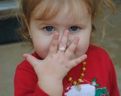 Little Girls, Toddlers, Babies Freshwater Pearl Silver Ring - Free Shipping