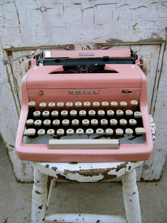 I Am Worried  I Will Regret Listing This Vintage Royal Pink Typewriter Its Amazing