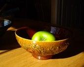 Sale - Vintage Ceramic Bowl // Fruit Bowl // Centerpiece // Heager Pottery