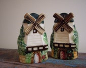 Sale - Vintage 40s salt and pepper shakers windmill Holland