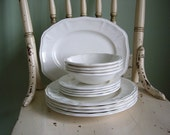 Vintage Staffordshire Ironstone Plates, Bowls and Platter