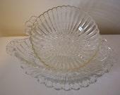 Vintage glass dishes // serving // sale // trinket dishes // antique