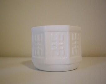 Sale - Vintage Milk Glass Planter Vase