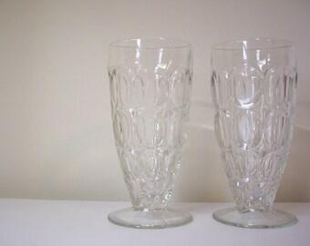 Vintage stemmed glasses // parfait //ice tea