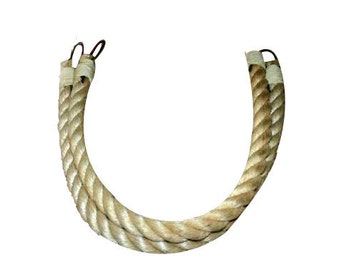 Thick Rope Chunky Rope Curtain Tie Backs Large Diameter Beige Tan Rope Nautical Beach Decor Pull Back drapes