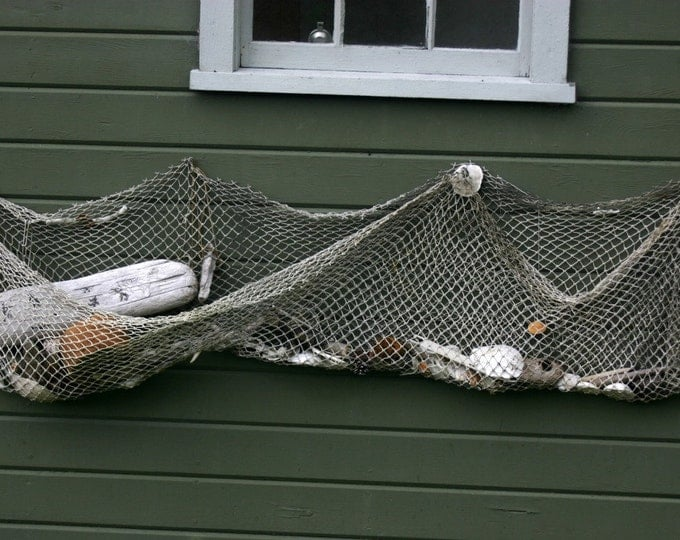 Netting to decorate RePurpose Fish Webbing Nautical Themed Outdoor Or Indoor