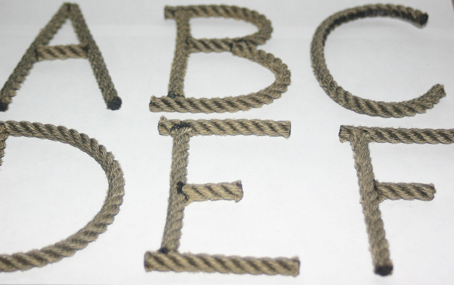 alphabet letters rope letters made to order by With rope letters for nursery