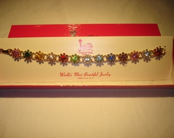 Judy Lee Daisy Rhinestone Bracelet New In Box