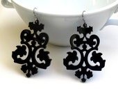 Exclusive Victorian Lace Earrings - Elegant Jewelry - Evening Jewelry - Cocktail Jewelry - Party Jewelry - Laser Cut Jewelry