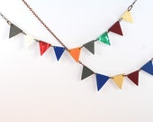 I've Run Away With The Circus: 9 Pennant Necklace