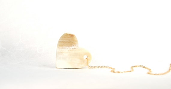 Golden Love Honey Horn Heart Pendant