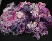 Maco Merino fleece, very soft, hand painted fiber for spinning and felting, 4.4 oz