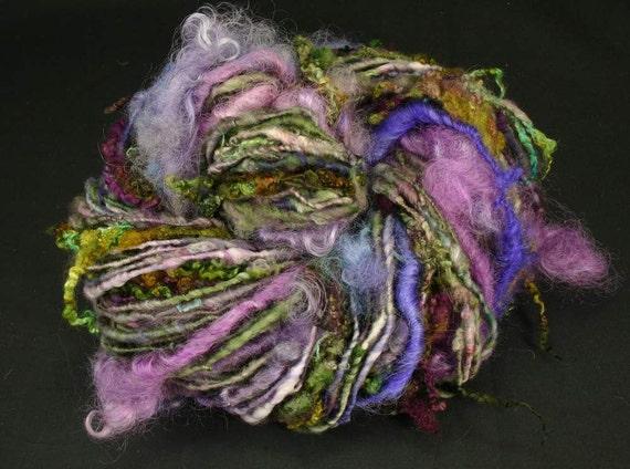 Handspun art yarn: Anemone