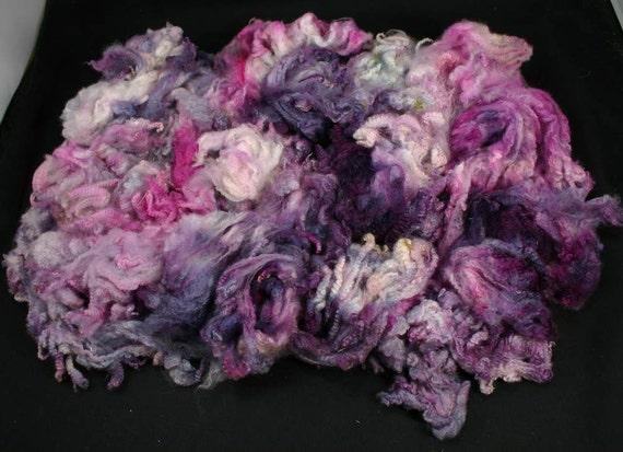 Maco Merino fleece, very soft, hand painted fiber for spinning and felting, 4.4 oz