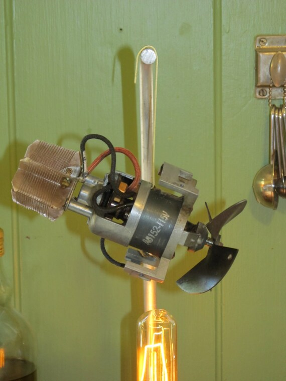 Steampunk SciFi Jules Verne Edison Electric Lunar Explorer Lamp