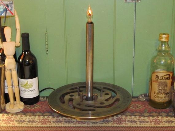 Found Metal Artifact Lamp Number 59