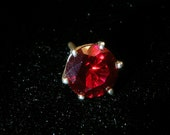Bright red ruby  tie tack