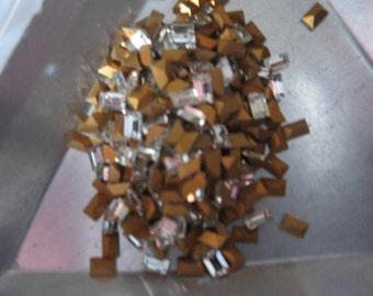 Vintage Swarovski Crystal Baguettes Article 109/4500 3x2mm QTY - 4
