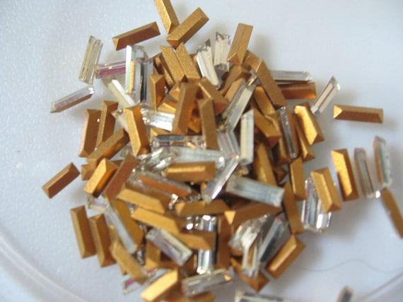 Vintage Swarovski Crystal Baguettes 6x2mm QTY - 6 ALMOST GONE
