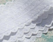 White Eyelet Lace Trim Bridal Lace Wedding Lace