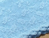 Vintage Lace Trim Light Blue Lace with Roses