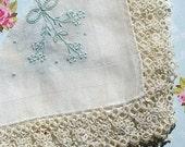 Vintage Handkerchief Vintage Lace Hankie Tatting Wedding Hankie